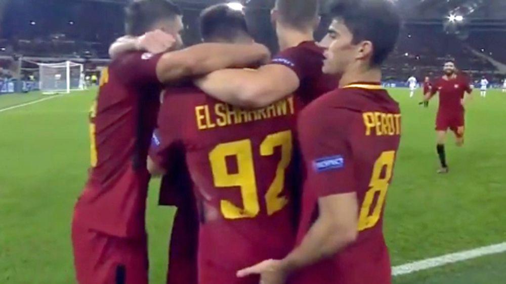 Roma star Diego Perotti channels John Hopoate in goal celebration