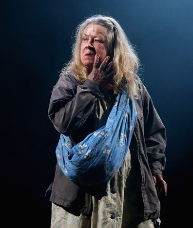 Noni Hazlehurst performs a scene from Mother at Belvoir Street Theatre on January 24, 2018 in Sydney, Australia.