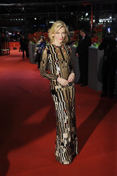 Cate Blanchett inGivenchy at the premiere of Cinderalla in Berlin, March, 2015<br>