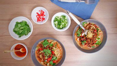 Easy peanut butter and Sichuan pepper noodles are packed full of flavour