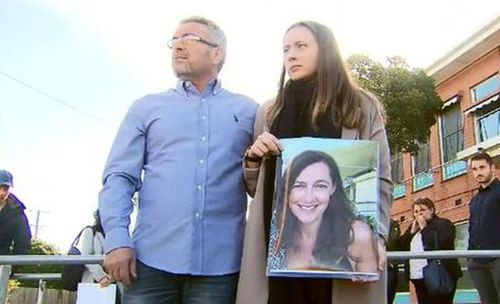 Borce Ristevski and his daughter, Sarah, plead for information to help find Karen before her body is found. Picture: 9NEWS