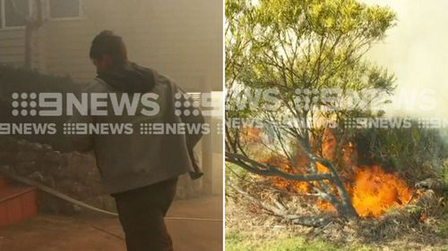 Residents are being evacuated as more than 30 out-of-control blazes threaten homes across New South Wales.