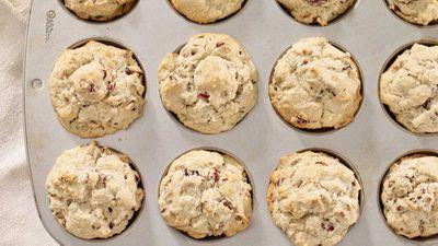 """Recipe:<a href=""""http://kitchen.nine.com.au/2018/02/27/12/57/cranberry-pecan-muffins-recipe"""" target=""""_top""""> Cranberry pecan muffins</a>"""
