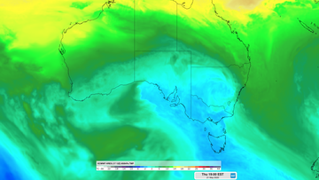 Two cold fronts moving across Australia in coming days.