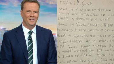 NSW Bushfires: Resident opens home to Channel 9 crew