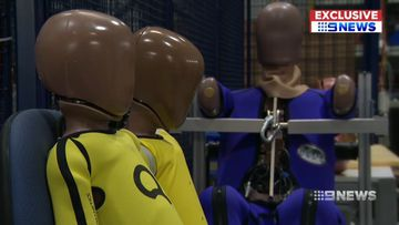 Single parent household represented in new 'crash test dummies'