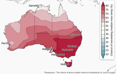 Australia is mostly in for warmer than average temperatures this winter. Picture: Weatherzone