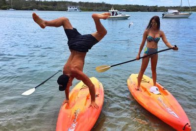 @tysontravel: Am I doing it right? Stand Up Paddling.. Noosa getaway for a few days!