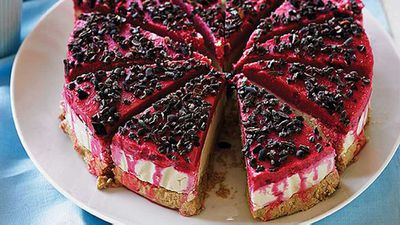 "Recipe: <a href=""http://kitchen.nine.com.au/2016/05/05/15/01/raw-raspberry-dairyfree-cheesecake"" target=""_top"">Raw raspberry dairy-free cheesecake</a>"