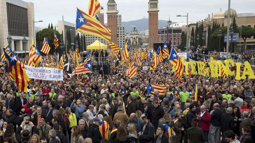 Around 80,000 rally in Barcelona for Catalan independence