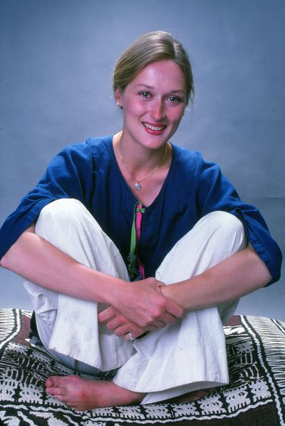 A fresh-faced Streep in 1976 avoided overtly sensual ensembles at the beginning of her career as she focussed on her craft.