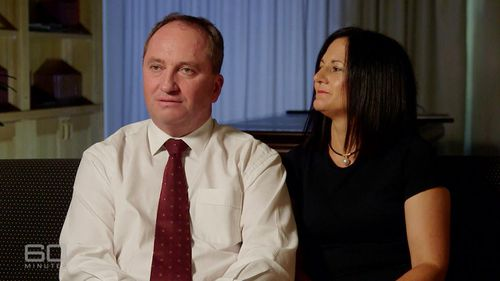 Wooley interviews Joyce and his wife, Natalie, on 60 Minutes. (60 Minutes)