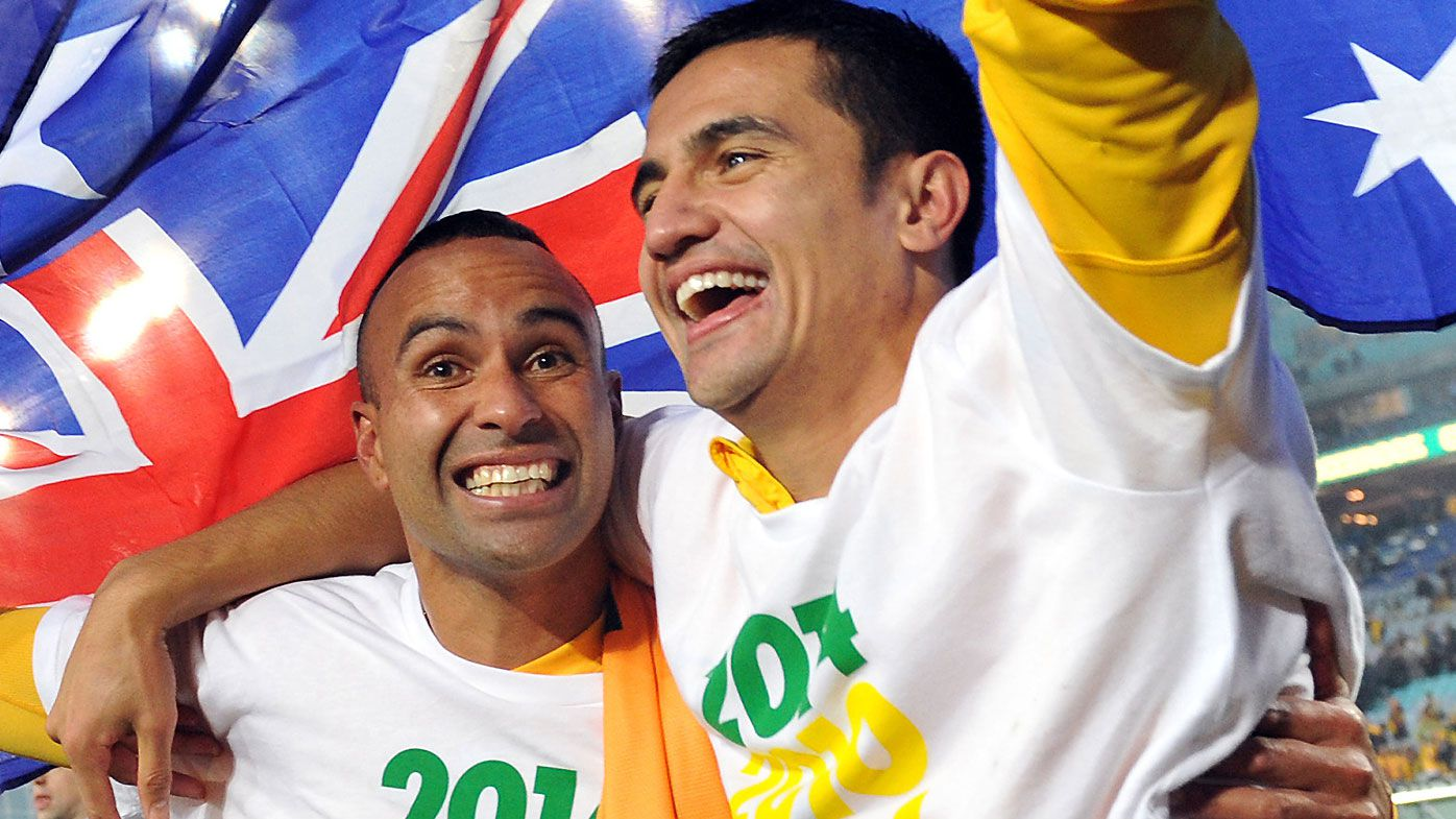 Archie Thompson and Tim Cahill