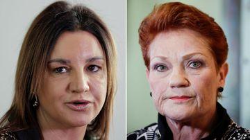 Jacqui Lambie and Pauline Hanson.
