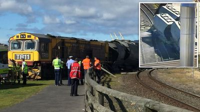 Lucky escape after train derails