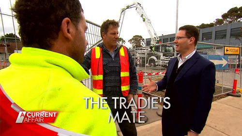 Anthony Igra is Australia's most dedicated debt hunter, helping tradies uncover millions of dollars in unpaid work. Picture: A Current Affair.