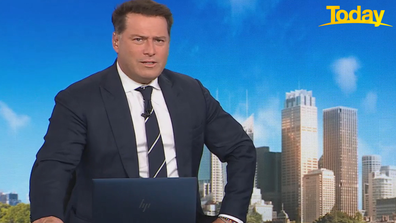 Karl Stefanovic praised Britney Higgins for going public with the allegations.