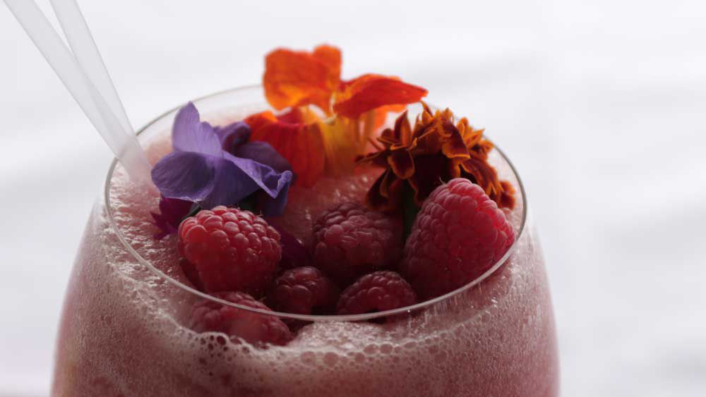 Fresh orchard frosé (frozen rosé) by Tom Bulmer. Image: 9Kitchen