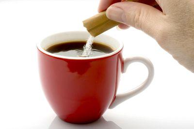 Avoid adding sugar to tea and coffee