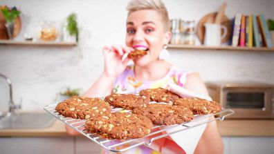 Jane de Graaff bakes Quarantine Kitchen ANZAC biscuits