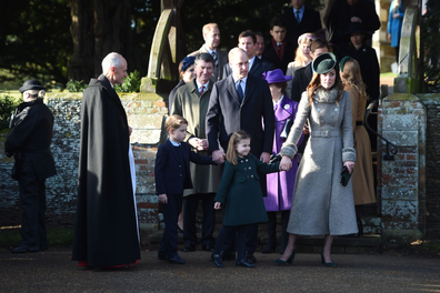 Cambridges after Christmas day service.
