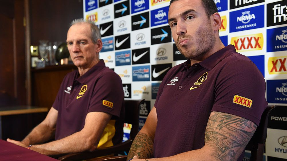 Wayne Bennett (L) and Darius Boyd. (AAP-file)