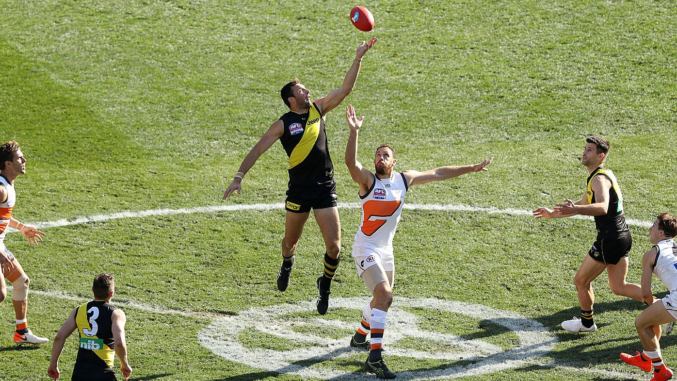 The bounce at the 2019 AFL Grand Final match