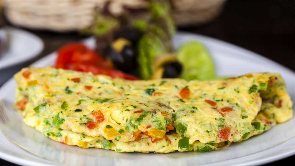 Susie Burrell's hangover cure zucchini omelette