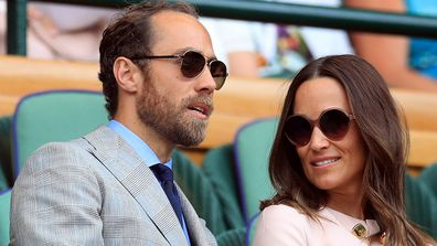 Pippa Matthews and James Middleton at Wimbledon.