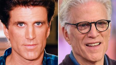 Ted Danson in Cheers then and now