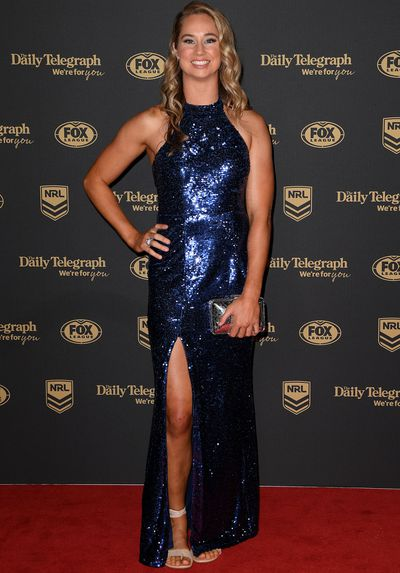 Kezie Apps at the 2019 Dally M Medal