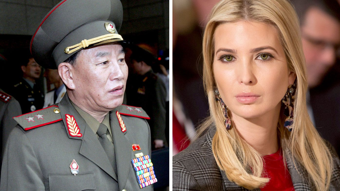 Kim Yong Chol and Ivanka Trump. (AAP)