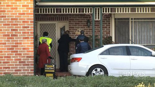 Police visited Ms Bodnar's home and business today. (9NEWS)