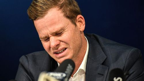 Former Captain Steve Smith gave an emotional press conference. (AAP)