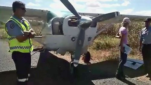 The pilot was praised for the safe landing. (9NEWS)