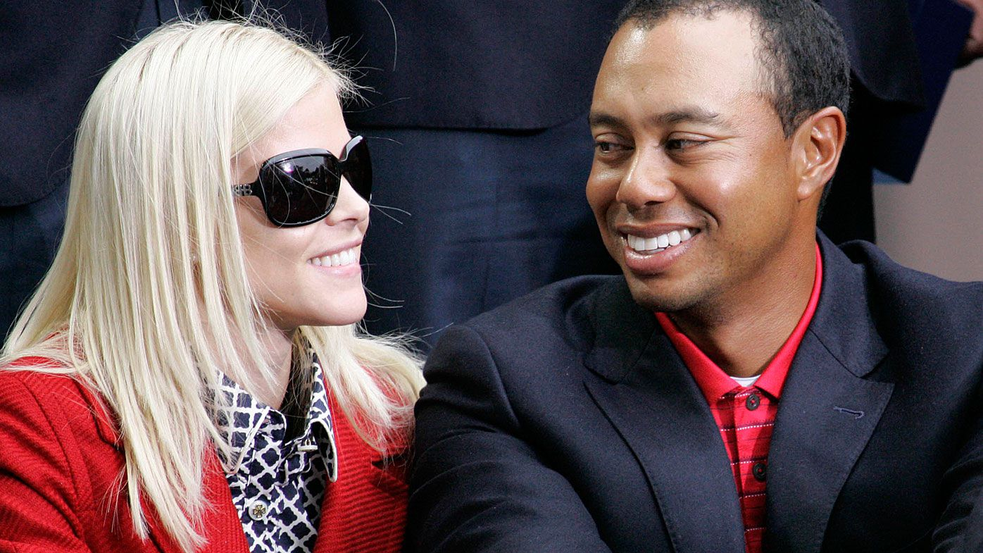 Tiger Woods and his wife, Elin Nordegren, at the closing ceremonies for the Presidents Cup in October 2009