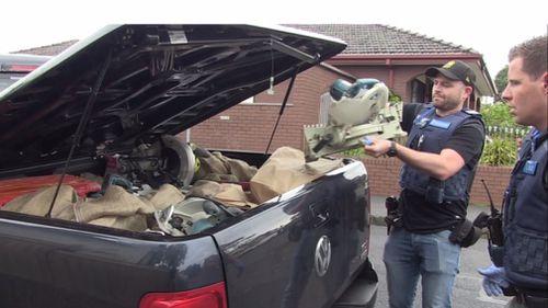 Men arrested after dozens of 'stolen' power tools found inside ute