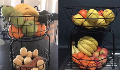 Kmart hack for fruit bowls and fruit stands