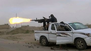 """The president told representatives of a 79-member, US-led coalition fighting ISIS that the militants held a tiny percentage of the vast territory they claimed as their """"caliphate""""."""