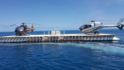 The helicopter was coming into land at the Hardy Reef Heliport. (File/Chris Holmes)