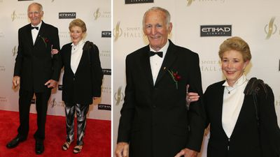 Inductee and rugby league icon Norm Provan and wife Lynne. (AAP)