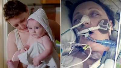 'It nearly killed me': Comatose mum gives birth after catching deadly flu