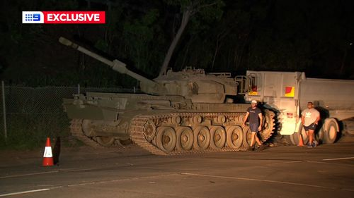Mysterious abandoned army tanker found on Sydney.