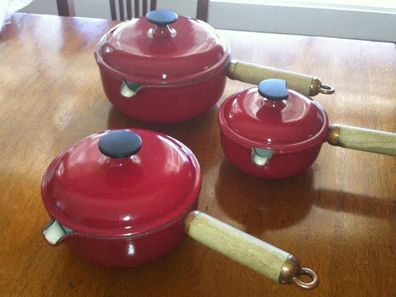 The saucepans Sandy Weir bought off eBay that sparked a long-term friendship with Julie in France.