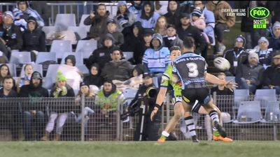 Contentious try taints Sharks NRL win over Raiders