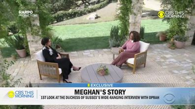 An extended preview clip of Meghan Markle's interview with Oprah Winfrey aired on CBS This Morning on Friday