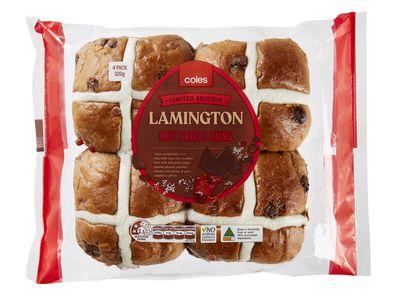 Coles Lamington Hot Cross Buns