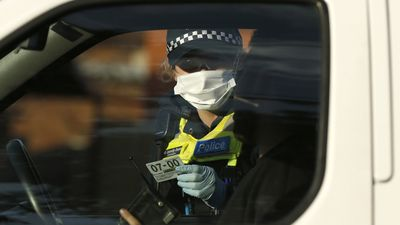 Police check driver IDs on the border