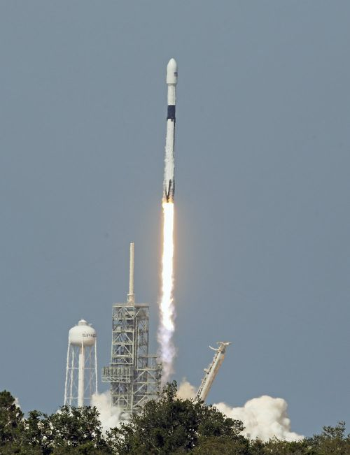 The rocket's recoverable booster is designed to be reused at least 10 times. (AAP)