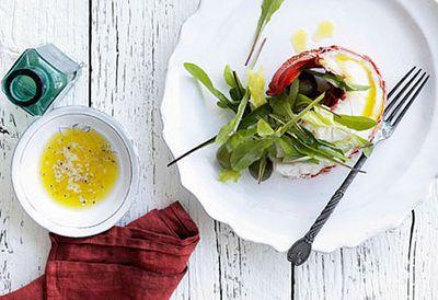 Lobster halves with lemon butter